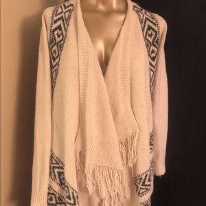 White Sweater w Tribal Print